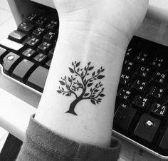 Cool Tree Tattoo On Wrist