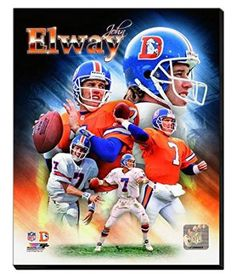 John Elway Canvas Framed Over With 2 Inches Stretcher Bars-Ready To Hang- Awesome & Beautiful