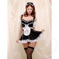 Fever Naughty French Maid Outfit at Lovehoney - Free Delivery on French Maids & Wench