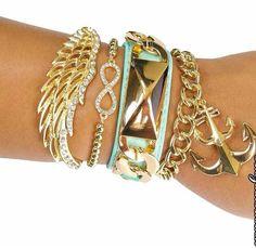 Bracelets! Gotta love lots of accessories