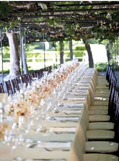 long table settings | Wedding Wednesday | Long Tables