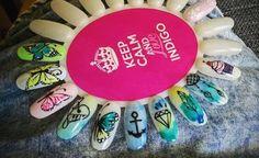 #indigonails #blureffect #butterflynails  #nailsart #nailssalon #bielskobiała #nailsmania #nailsoftheday #manicure #manicurehybrydowy #polishgirl #polishnails