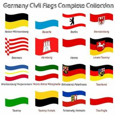 German civil flags bundesland bundesländer