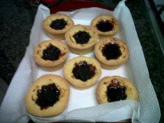 My home made, plums jam, little tarts.