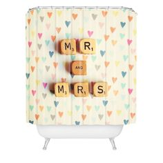 Happee Monkee Mr And Mrs Shower Curtain | DENY Designs Home Accessories