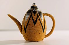 """yellow -  bee - Merrill Morrison - contemporary basketry samples - """"Floral tea"""" 2006"""