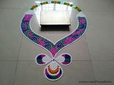 Easy and simple galicha style rangoli design | Creative Rangoli Design for Diwali - YouTube