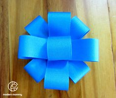 How to make simple ribbon bow