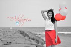 #red #balloon #beach