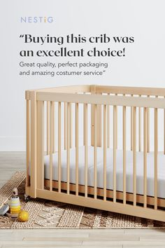 A mini-crib, full crib and toddler bed all in one. JPMA Certified to exceed safety standards. Constructed from sustainably harvested solid Brazilian Pine. Baby Planning, Mini Crib, Wood Accents, All About Eyes, Exceed, Midcentury Modern, Natural Wood, Cribs, New Baby Products