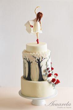 Las Zapatillas Rojas Pastel Bosque / Red Shoes Ballet Cake