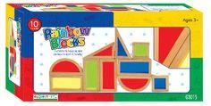 10 Guidecraft Rainbow Blocks