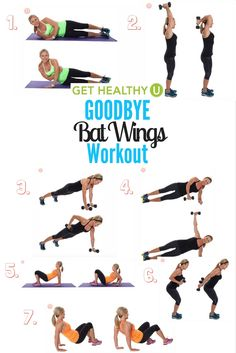 These seven exercises are specifically designed to target your triceps and tone up your arms so they're sleek, sexy, and strong. Say goodbye to bat wings with this arm workout!!