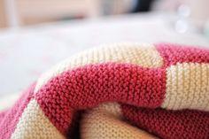 Beginners Knitting Patchwork Blanket