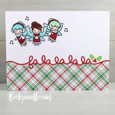 Oh my gosh I love these little fairies! Get ready to see quite a bit more of them in the next few months! Chrismas Cards, Diy Christmas Cards, Xmas Cards, Holiday Cards, Christmas Crafts, Cute Cards, Diy Cards, Craft Cards, Quick Cards