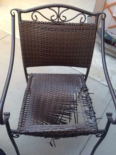 How To Repair The Vinyl Strapping On A Lawn Chair In 2019