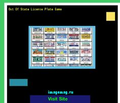 Out of state license plate game 143250 - The Best Image Search