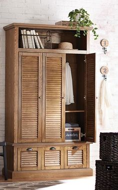 Hide coats and jackets in this clever closed locker storage piece. Great for an open entryway or even a mudroom, this will store all of your belongings as you walk in and out the door. #12DaysofDeals2016