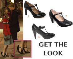 About Time movie fashion: Mary's (Rachel McAdams) black, t-strap, Mary Jane pumps/heels by Clarks #getthelook #abouttime #rachelmcadams