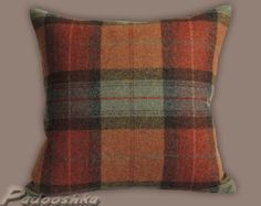 Tweed cushion cover - awesome Etsy listing at https://www.etsy.com/listing/171340827/luxurious-tweed-cushion-cover-tartan