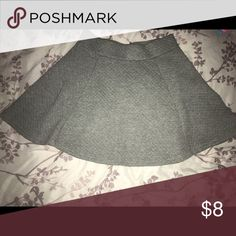 Circle/skater skirt Grey skater skirt, zipper in the back Skirts Circle & Skater