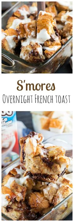 S'mores Overnight French Toast Casserole is delicious and the perfect way to have a hot breakfast on a busy morning! #ad #TryTruMooHot #Recipe - Eazy Peazy Mealz