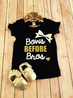 This is a super cute Bows Before Bros Ruffle Tee. Moccasins are sold separately and available in shop!  When washing please wash it inside out so the