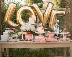 Giant BABY Balloons 40 Inch Gold Mylar by ChrissyBPartyShop