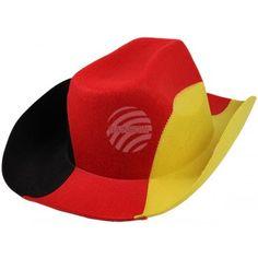 """EM WM Cowboyhut """"Deutschland"""" schwarz, rot, gold ( aus Großhandel und Import"""