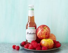 Apple & Raspberry Fusion - Our cloudy, pressed apple juice blends beautifully with tart raspberry and a squeeze of elderberry in this thirst-quenching juice drink. Personal Hygiene, Juice Drinks, Apple Juice, Raspberry, Bottle, Tart, Fruit Juice, Apple Cider, Flask