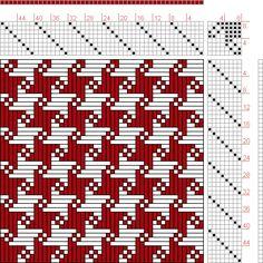 Kiju Yoshida   page 166, figure 4: Orimono soshiki hen   double weave   Japan   c. 1903   8-shaft, 8-treadle