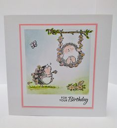 Card by Ghislaine - Penny Black Hedgehog stamps