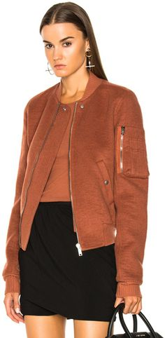 Rick Owens Double Cashmere Flight Bomber Jacket in Brown,Orange. Bomber jacket fashions. I'm an affiliate marketer. When you click on a link or buy from the retailer, I earn a commission.