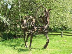 Scrap Metal Garden Art | Scrap Metal Horse Sculpture | Flickr - Photo Sharing!