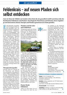 """aks gesundheit: Text für Fachpublikation """"Arzt im Ländle"""" zum Thema Feldenkrais. Words, Not Interested, Health, Life, Horse"""