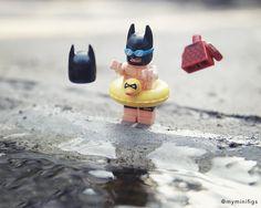 How about some lazy swim in a private pool . I Am Batman, Lego Batman Movie, Batman Art, Lego Jokes, Lego Humor, Miniature Photography, Lego Photography, Legos, Lego Justice League