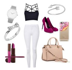 """""""Untitled #13"""" by elena-fedoruk on Polyvore featuring Fashion Fair, MICHAEL Michael Kors, Casetify, Topshop, Lipsy, Kate Spade and Larsson & Jennings"""