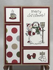 Stampin Up Christmas Card Stampin Up Cards Snowman Card Christmas Cards