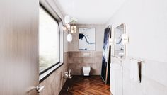 Bringing some serious style to the humble cloakroom bathroom. Minimal and modern with a twist Soho Style, Small Bathroom, Minimalism, Mirror, Modern, Furniture, Design, Home Decor, Small Shower Room