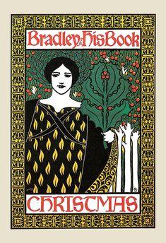 ART NOUVEAU POSTER Bradley Books Poster by EncorePrintSociety