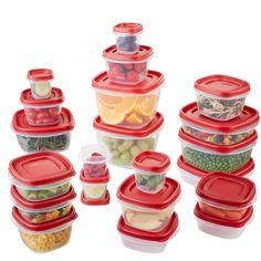 Rubbermaid Easy Find Lids Contenedores de Alimento, Juego de 42 piezas, Rojo