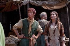Eddie Redmayne as Jack Jackson and Hayley Atwell as Aliena inThe Pillars of the Earth (TV Series, 2010).