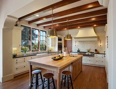 spanish style homes kitchen - Google Search