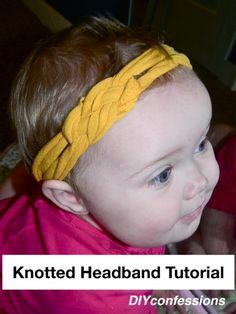 DIY Jersey knotted headband tutorial