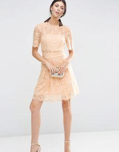 ASOS Tall | ASOS TALL Lace Mini Prom Dress at ASOS