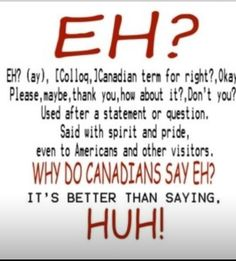 .Definition of 'Eh'