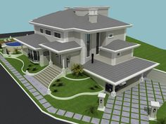 Spectacular Modern Residential Villas - Engineering Discoveries The Effective Pictures We Offer You House Plans Mansion, Sims House Plans, Dream House Plans, House Outside Design, House Front Design, Architectural Design House Plans, Modern Architecture House, Residential Architecture, House Design Pictures