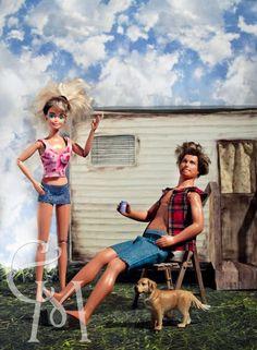 Redneck Barbie and White trash Ken Barbie Et Ken, Bad Barbie, Barbie Life, Barbie World, Barbie Funny, Barbie Humor, Gi Joe, Barbie Friends, Looks Cool