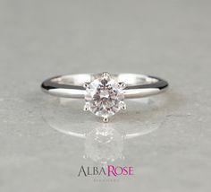 D32280 - Alba Rose diamond round solitaire engagement ring http://www.albarose.com/product/d32280_584