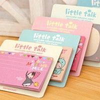 Wish | Cute Little Talk Girl Sticker Message Notes  Memo Pads
